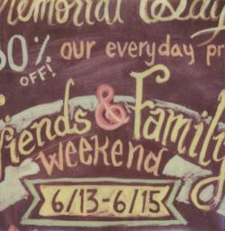 Friends and Family Weekend